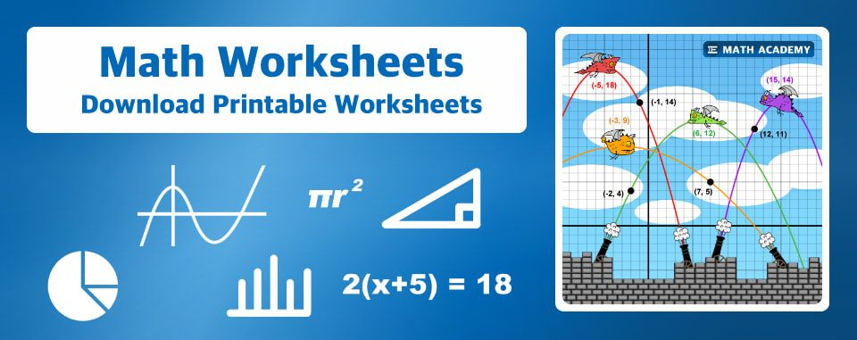 Math Worksheets - E Math Academy